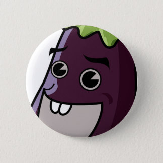 Happy Eggplant 6 Cm Round Badge