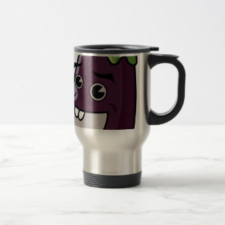 Happy Eggplant Travel Mug