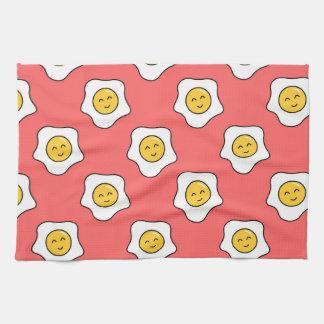 Happy Eggy Kitchen Towel