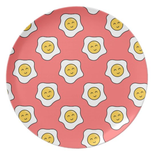 Happy Eggy Melamine Plate