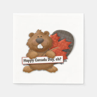 Happy, Eh? Canada Day Party Paper Napkins Paper Napkin