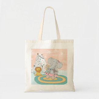 Happy Elephant and friends Tote bag