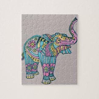 Happy Elephant Jigsaw Puzzle