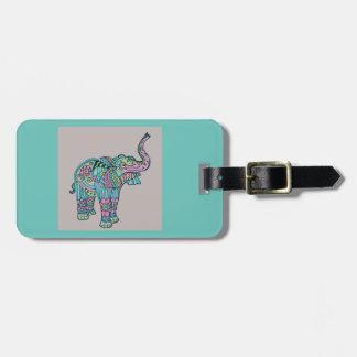 Happy Elephant Luggage Tag