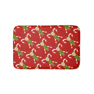Happy Elf Christmas Bath Mat