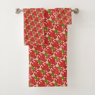 Happy Elf Christmas Bathroom Towel Set