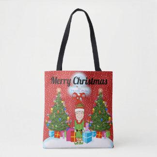 Happy Elf Christmas Tote Bag