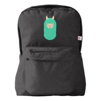 Happy Emoji Llama Backpack