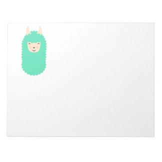 Happy Emoji Llama Notepad