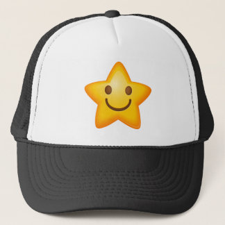 Happy Emoji Star Trucker Hat
