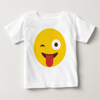 Happy Emoji with tongue out Baby T-Shirt