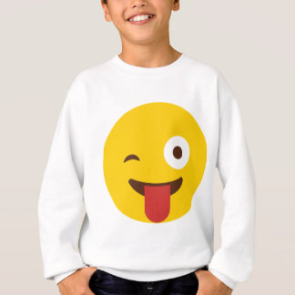 Happy Emoji with tongue out Sweatshirt