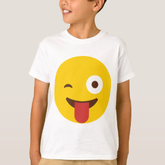 Happy Emoji with tongue out T-Shirt
