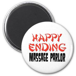 Happy Ending Massage Parlor 6 Cm Round Magnet
