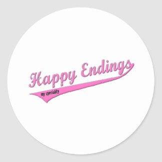 Happy Endings My Speciality Round Sticker