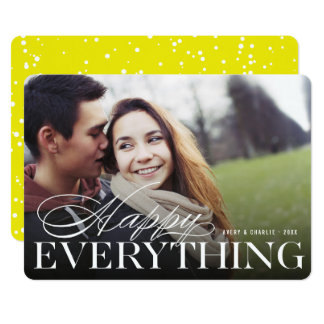 Happy Everything Classic Modern Holiday Photo Card