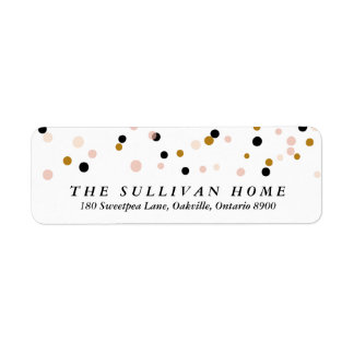 Happy Everything Confetti   Holiday Address Label