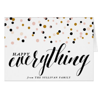 Happy Everything Confetti | Holiday Card