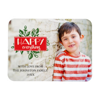 Happy Everything | Custom Holiday Photo Magnet