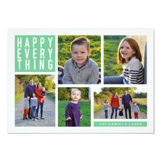 Happy Everything Five Photo Holiday Card