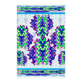 Happy Expressions Graphic Abstract Wave Art Customised Stationery