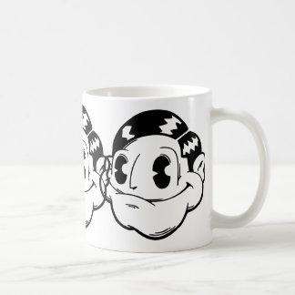 Happy Face Basic White Mug
