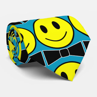 Happy Face Bow Tie Necktie
