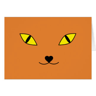 Happy face cat card