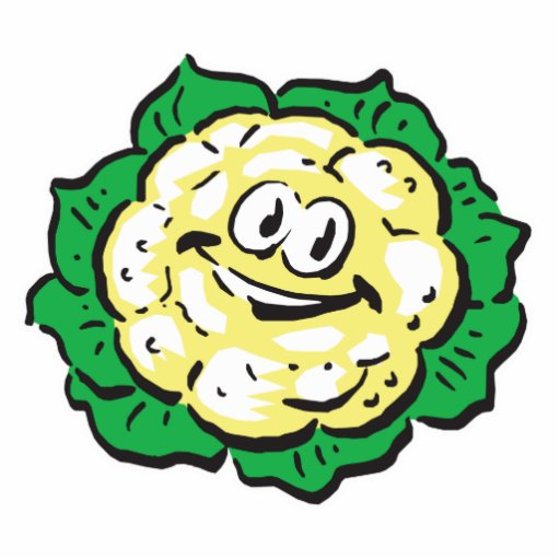 happy face cauliflower photo sculptures