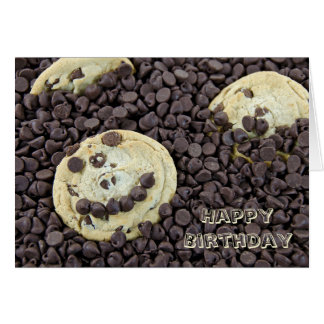 Happy Face Chocolate Chip Cookie Card