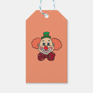 Happy Face Clown Gift Tags