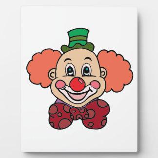 Happy Face Clown Photo Plaque