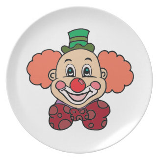 Happy Face Clown Plate