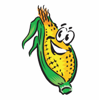 happy face corn on the cob photo cutout
