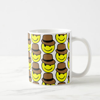 Happy Face Fedora Mug