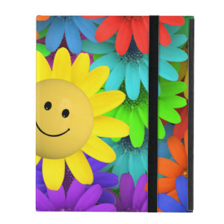 Happy face Flower iPad Cover