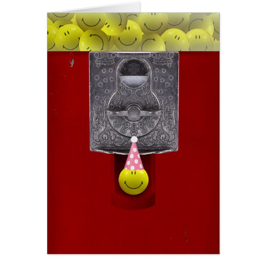 Happy Face Gumball Birthday Card