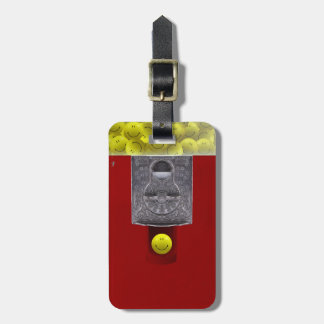 Happy Face Gumball Machine Bag Tag