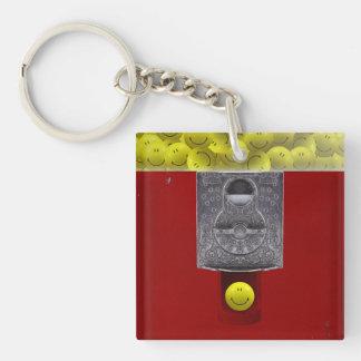 Happy Face Gumball Machine Keychain