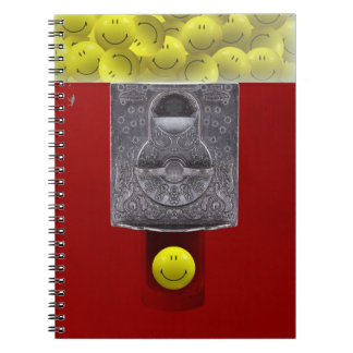 happy face gumball machine notebook