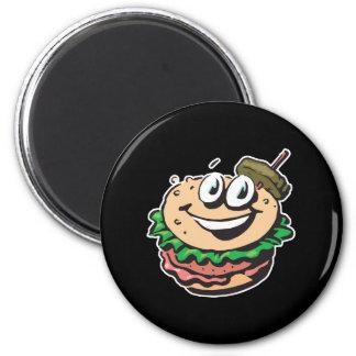happy face hamburger refrigerator magnets