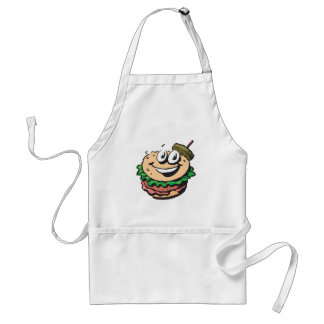 happy face hamburger standard apron