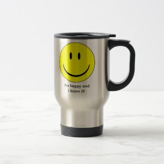 Happy Face Insulated Mug
