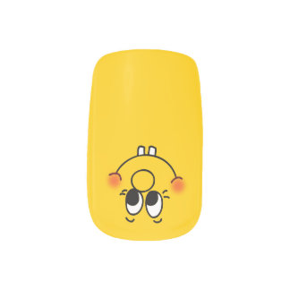 Happy Face Kids Nail Sticker