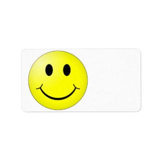 Happy Face Label
