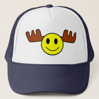 Happy Face Moose Cap