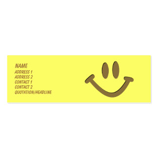 Happy Face Pack Of Skinny Business Cards
