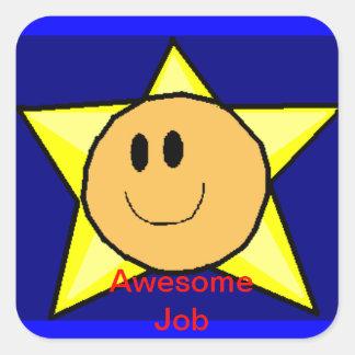 Happy Face Rewards Square Sticker