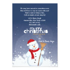 Happy Face Snowman Holiday Moving Announcement