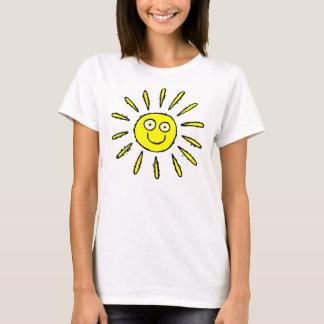 Happy Face Sun Design Cute T-shirt